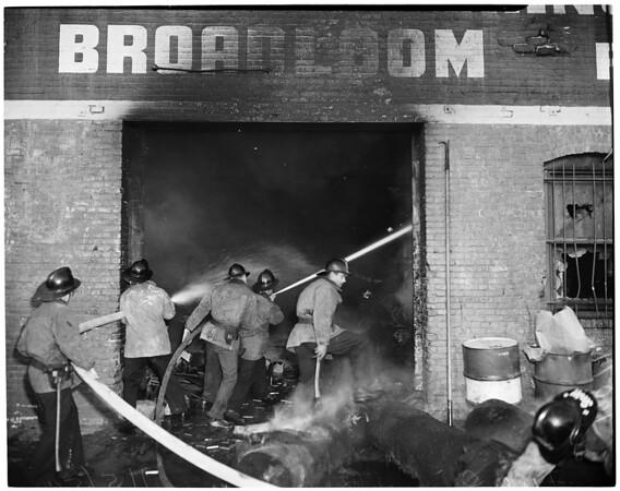 Detail 6 of 19, Fire at Pico Boulevard and Broadway, 1954