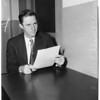 Democratic candidate for Poulson post, 1953