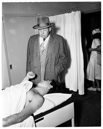 Shooting victim, 1953