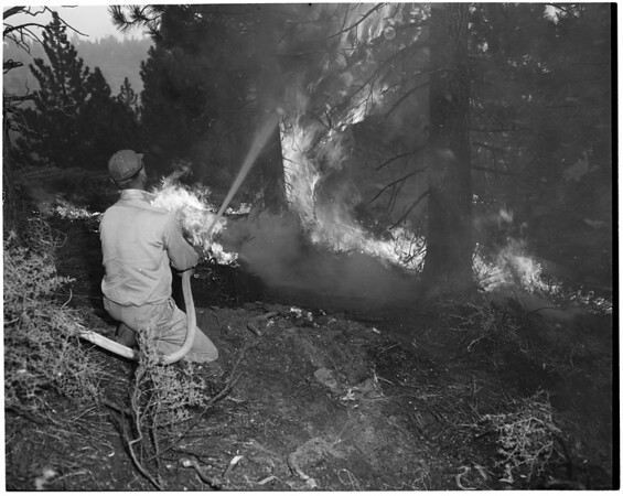 Big Pines fire, 1953