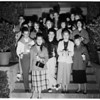 Detail 1 of 2, USC carolers, 1952
