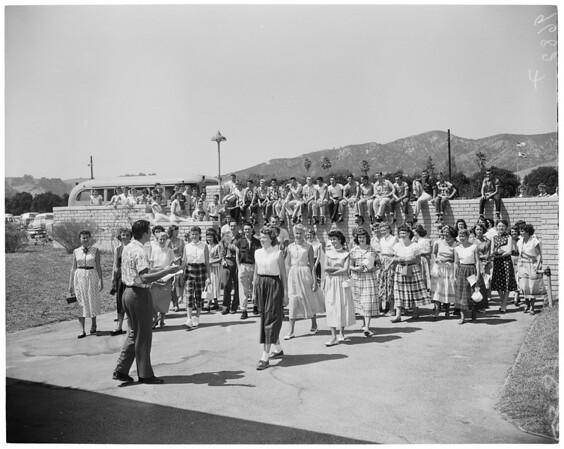 Detail 4 of 6, Mount San Antonio College freshman day, 1952
