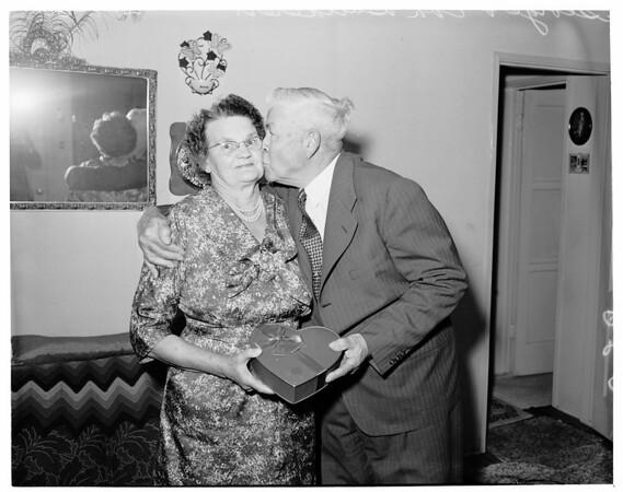 Bauderer golden wedding anniversary, 1960