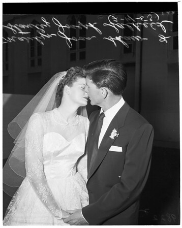 Shaw girls married (two different girls with same name), 1953