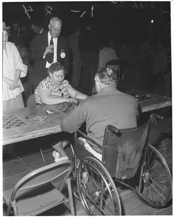 Checker tourney at San Gabriel, 1953