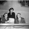 Youth and government (Hi-Y and Tri-[Hi]-Y meet at Hall of Records), 1953