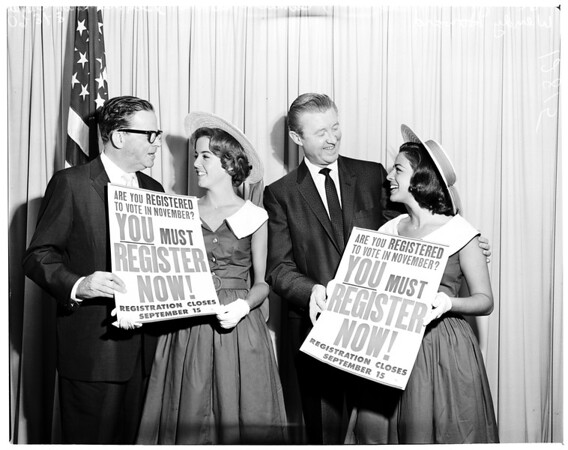 Register to vote, 1960