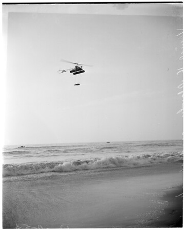Helicopter rescues -- Venice, 1953