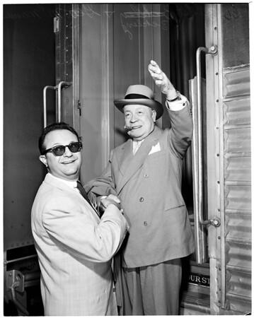 George McManus arrival at Union Station, 1953