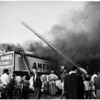 Detail 1 of 19, Fire at Pico Boulevard and Broadway, 1954