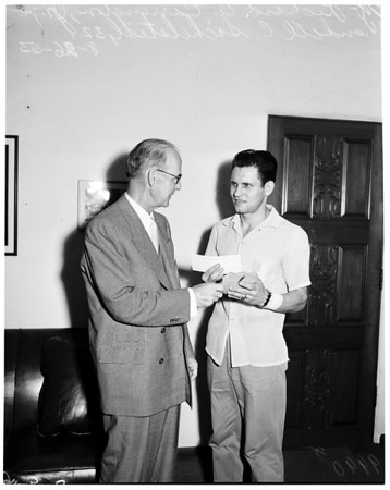 Detail 3 of 3, Examiner heroism award, 1953