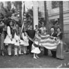 Greek flag raising, 1953