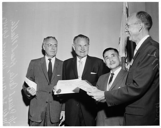 Detail 1 of 5, Hollywood High School alumni class reunion, 1960