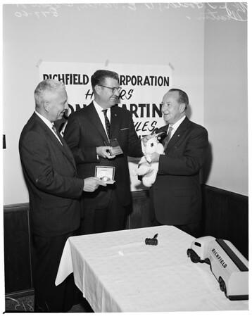 Million mile driver for Richfield Oil corporation, 1960