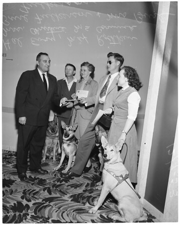 Eye dog graduation luncheon at Statler Hotel, 1953