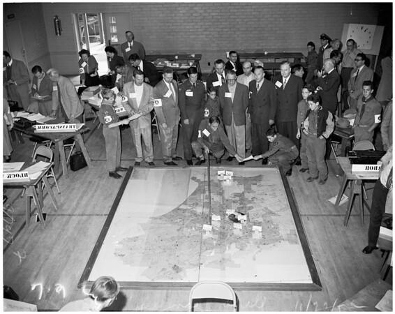 West Los Angeles Civil Defense drill, 1952