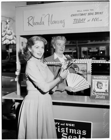 Christmas seal booth, 1953