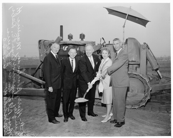Detail 1 of 2, Groundbreaking for new White Front Stores general offices, 1960