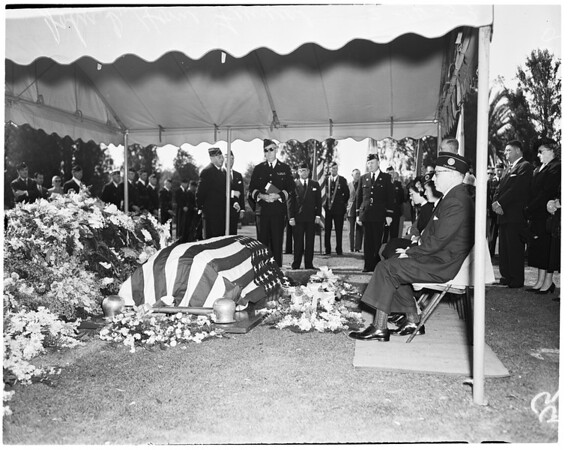 John D. Home funeral (Hollywood Post 43), 1953