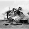 Hay truck burns, 1951