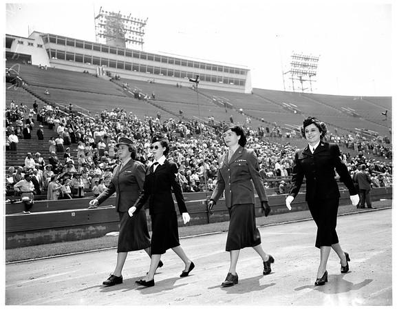 Memorial services in coliseum, 1951