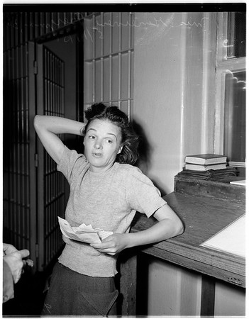 Mother arrested for intoxication, 1951