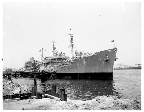 Navy tanker back after year in Korea, 1951