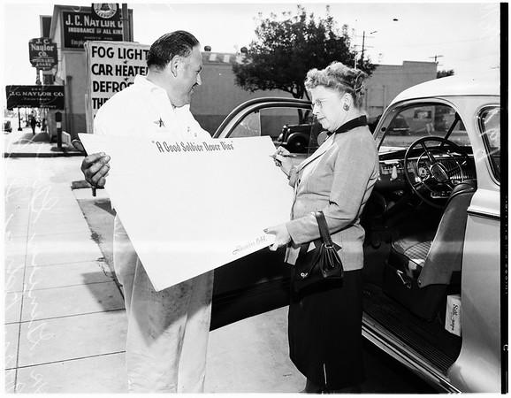 MacArthur postcard, 1951