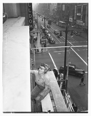 Woman building cleaner, 1951