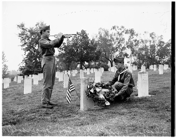 Memorial Day services at VA Cemetary Sawtelle, 1951