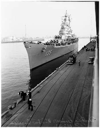 "Cruiser USS ""Los Angeles"", 1951"