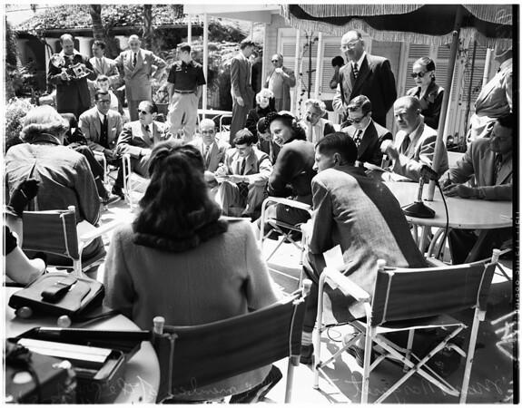 Press conference, 1951
