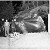Overturned car, 1951