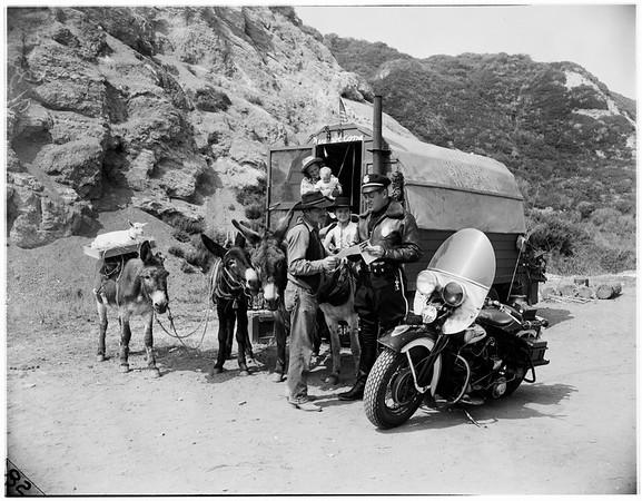 Covered wagon (Pacific Palisades), 1951