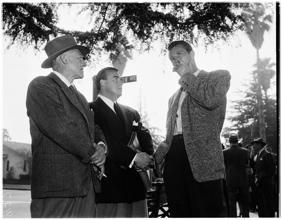 "Sterling Hayden on location in Santa Monica for ""Skid Row"", 1951"