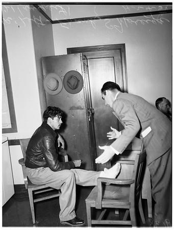 Burglary ring broken (San Pedro), 1951