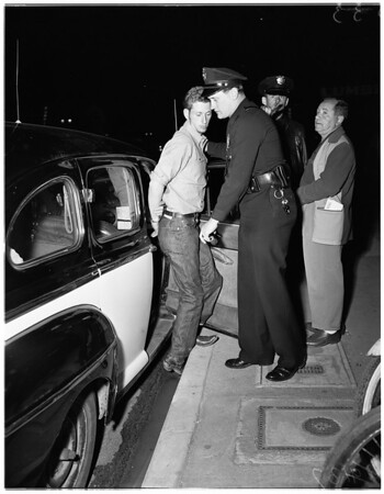 Fight after minor accident, 1951