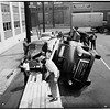 Lumber truck overturned -- Santa Fe and East 25th Street, 1951
