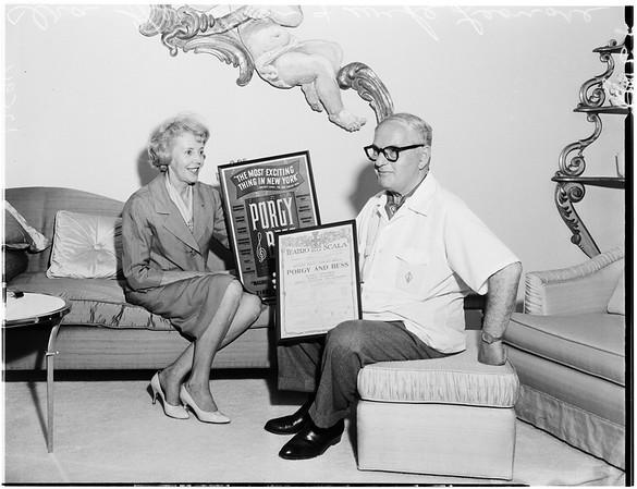 Ira Gershwin feature, 1959