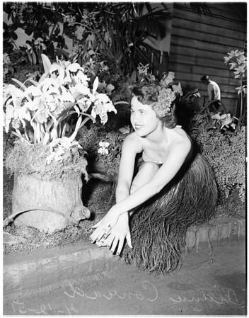 Flower show (Brookside Park) Pasadena, 1951