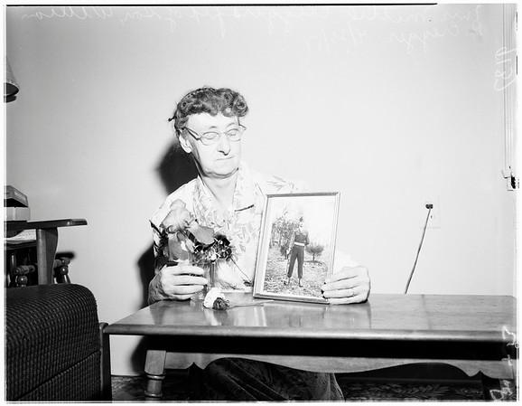 Son killed in Korea, 1951