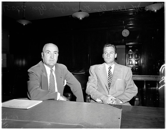 Agar drunk driving trial, 1951