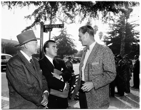 "Sterling Hayden on location in Santa Monica for ""Skid Row"", 1951"