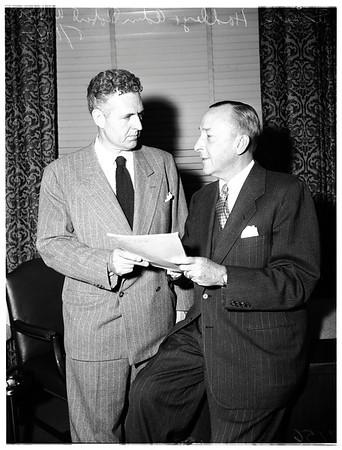 Civil defense meeting, 1951