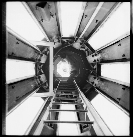 Air raid siren on Van Nuys City Hall, 1951