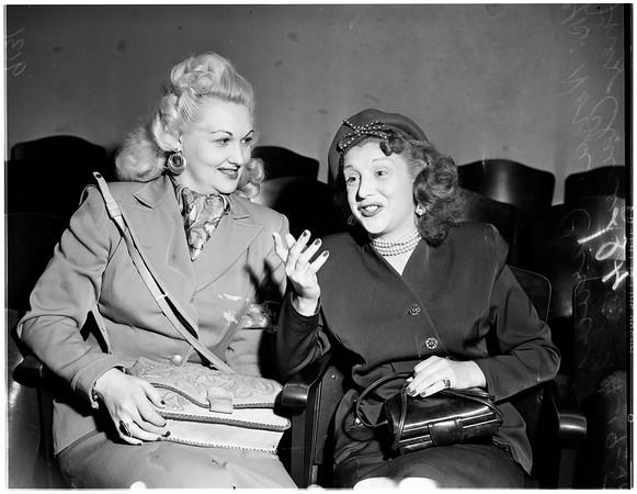 Strip tease girl gets divorce, 1951