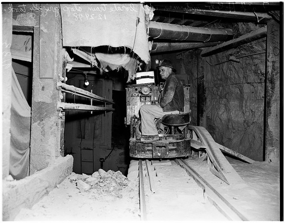Mining in southern California (borate mine at Boron), 1948