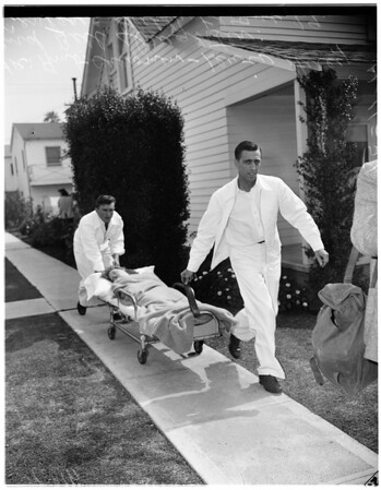 Groom dead, bride nearly from monoxide poisoning, 1951