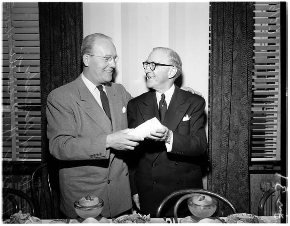 Scroll presentation...Stock Exchange Club, 1951