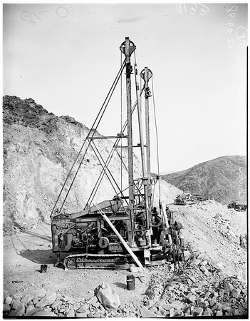 Mining in southern California (Kaiser open pit iron ore mine), 1948